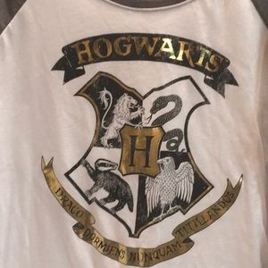 HARRY POTTER HOGWARTS Baseball style SHIRT XL